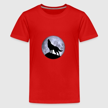 Wolf Volle maan Halloween nacht nightmare nightmare - Teenager Premium T-shirt