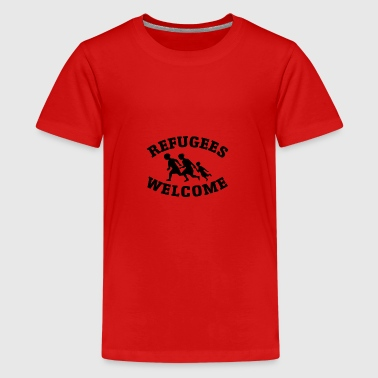 Welcome refugees - Teenage Premium T-Shirt