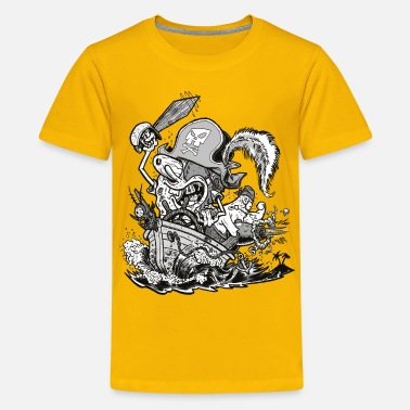 Officialbrands Teenagers' Premium Shirt Pirate SpongeBob - Maglietta Premium per ragazzi