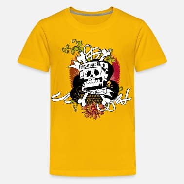 Spongebob Teenagers' Premium Shirt SpongeBob Skeleton - Tenårings premium T-skjorte