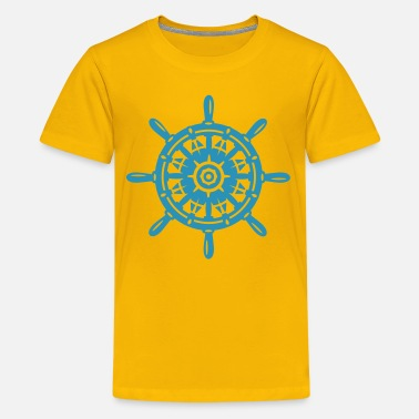 Ships Wheel A ship wheel - Teenage Premium T-Shirt