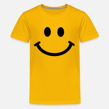 Sixties Symbols Happy Smiley Face - Teenage Premium T-Shirt