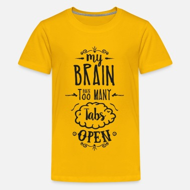 Geek my brain - dark - Teenager Premium T-Shirt