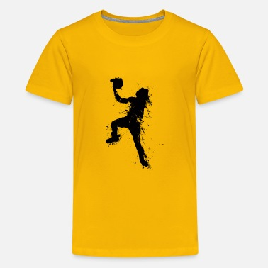 Eintunken basketballer jump 1 - Teenager Premium T-Shirt