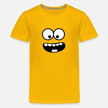 Om Nom Nom  Funny Smiley Monster (Om Nom Nom) Face - Teenage Premium T-Shirt