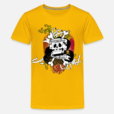 Spongebob Teenagers' Premium Shirt SpongeBob Skeleton - Teenager premium T-shirt