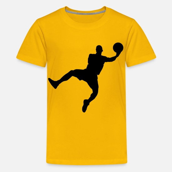 Handball T-Shirts - handball - Teenage Premium T-Shirt sun yellow