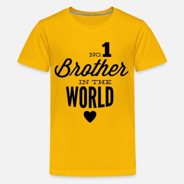 Miglior Fratello no1 brother of the world - Maglietta Premium per ragazzi