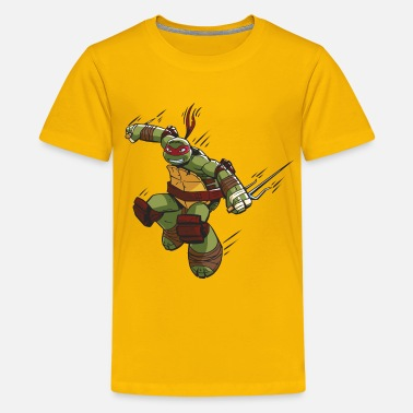 Mutant TMNT Turtles Raphael Ready For Action - Premium T-shirt teenager