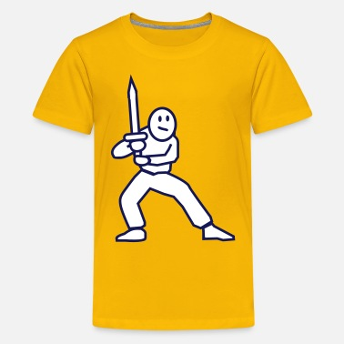 Swordfighter swordfighter - Teenage Premium T-Shirt