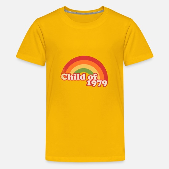 Birthday T-Shirts - child of 1979 - Teenage Premium T-Shirt sun yellow