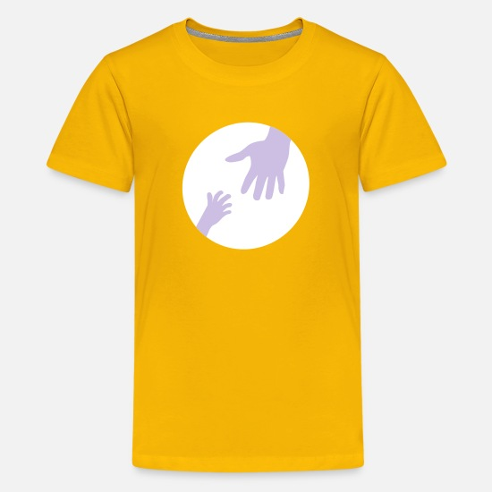 Girl T-Shirts - hands - Teenage Premium T-Shirt sun yellow