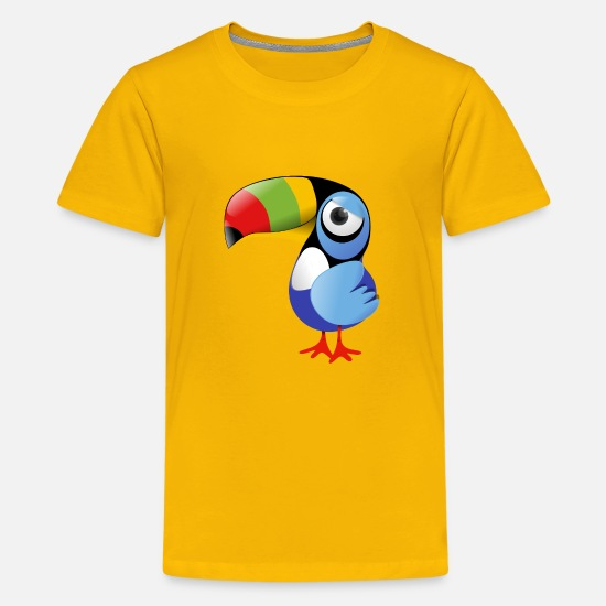 Collection For Kids T-shirts - Toucan - Teenager premium T-shirt zongeel