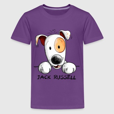 Funny Jack Russell Comic - Teenage Premium T-Shirt
