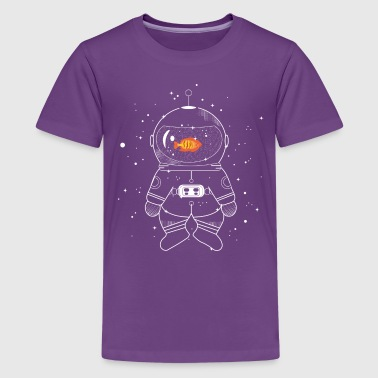 Astronaut with goldfish - Teenager Premium T-shirt