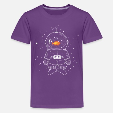 Astronaut with goldfish  - Teenage Premium T-Shirt