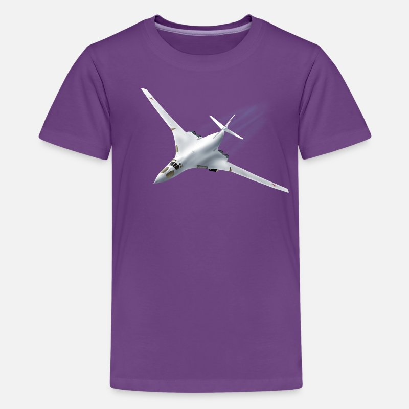 Aircraft T-Shirts - Tupolev Tu-160 - Teenage Premium T-Shirt purple