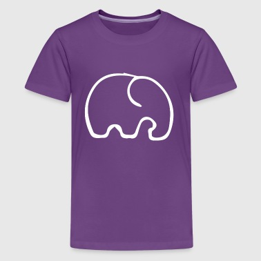 The small elephant - Teenage Premium T-Shirt