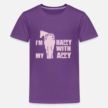 Lustige Pferde Rasse Happy with my Appy - Teenager Premium T-Shirt
