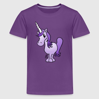 Purple Unicorn - Teenage Premium T-Shirt