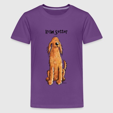 Happy Irish Setter - Teenage Premium T-Shirt