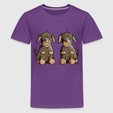 Dackel Duo - Teenager Premium T-Shirt
