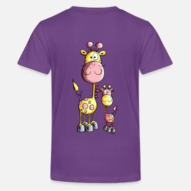 1876cd76678c2 Dibujos Para Niños Lindo Jirafa - Camiseta premium adolescente