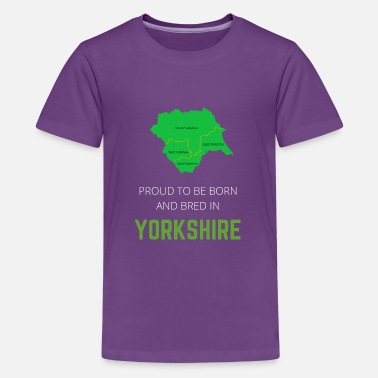 North Yorkshire Proud to be born and bred in Yorkshire - Teenage Premium T-Shirt