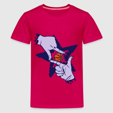 Basketball Finger hand form - Teenager Premium T-Shirt