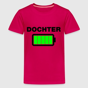 Dochter batterij vol - Teenager Premium T-shirt