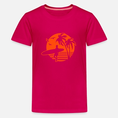 Coral Beach Surfers Heaven surfers Beach - Teenage Premium T-Shirt