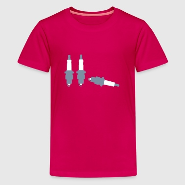 spark plugs engine_m1 - Teenage Premium T-Shirt
