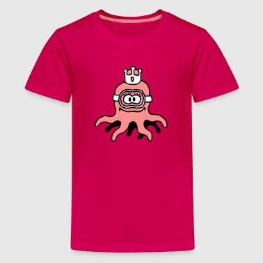 little_princess_octopuss_b_3c - Camiseta premium adolescente