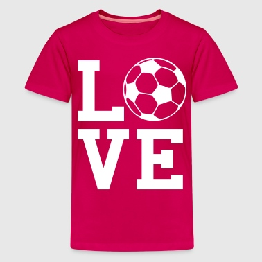 love soccer - Teenage Premium T-Shirt