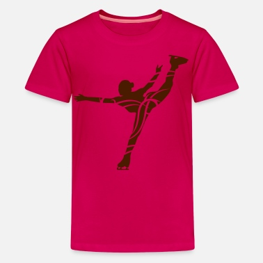 Patin À Glace Ice Skating female - T-shirt Premium Ado