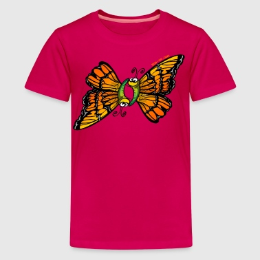 Loving Butterflies - Teenage Premium T-Shirt