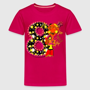 Verjaardag Getal 8 T-Shirt Design - Teenager Premium T-shirt