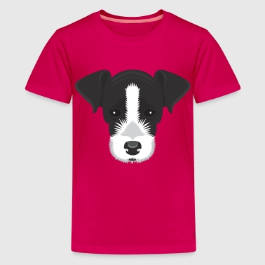 Black and White Jack Russell - Teenage Premium T-Shirt