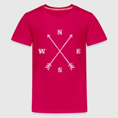 Compass Hipster compass / crossed arrows / retro look - Teenage Premium T-Shirt