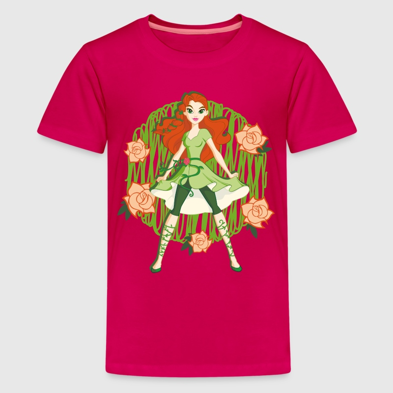 DC Super Hero Girls Poison Ivy Roses - T-shirt Premium Ado