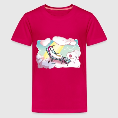 Wynonna Earp Happy unicorn in heaven - Teenage Premium T-Shirt