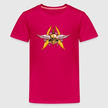 skull wings - Teenage Premium T-Shirt