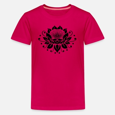 Tantra Symbool Grote lotusbloem in tribal tattoo stijl. - Teenager Premium T-shirt