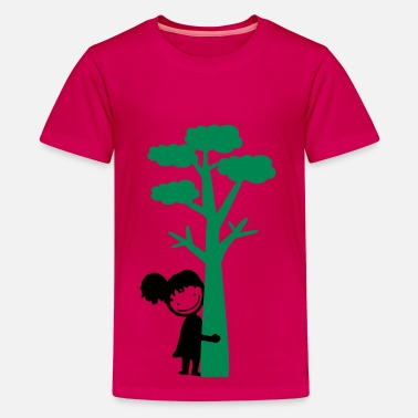 Tree Hugger tree hugger girl - Teenage Premium T-Shirt