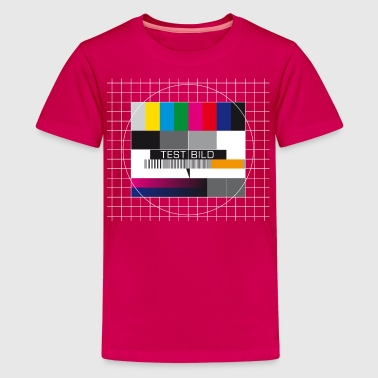 testbild nerd is the new sexy testpattern retro - Teenager Premium T-Shirt