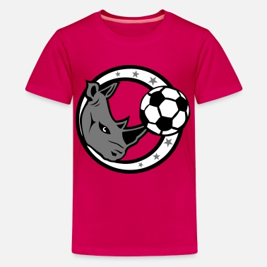 Rhinoceros foot rhinoceros rino football soccer - T-shirt Premium Ado