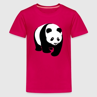 panda teddy bear cute animal t-shirt - Teenage Premium T-Shirt