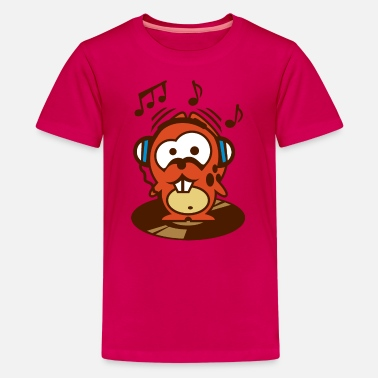 Hamster Dino der Hamster - macht Party - Teenager Premium T-shirt