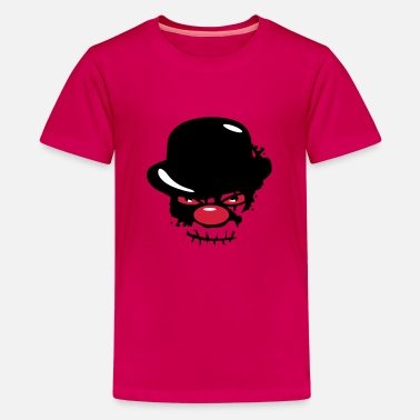 Scary Clowns A scary clown with a bowler hat - Teenage Premium T-Shirt