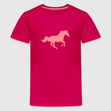 A horse - Teenage Premium T-Shirt